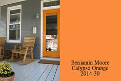 benjamin moore calypso orange