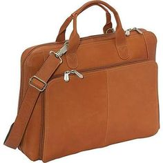 Piel Leather Slim Modern Portfolio - Saddle (PIEl1407)