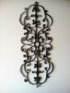 Wrought Iron-Style Wall Decor by WeigelCraftCorner on Etsy