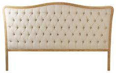 Maison Tufted Headboard, King - Natural eclectic-headboards