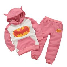 New spring&autumn&winter thermal batman Children's Clothing sets girls/boys Tracksuit hoodies+pants girl boy clothes for 1-6T