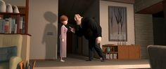 """The home of Bob and Helen Parr in """"The Incredibles"""" is one of the finest examples of mid-century modernism in all of cinema. Thanks to Pixar's skilled artists, every detail in the architecture to the furniture to the decor can be an idealized depiction of an American suburban residence in the '60s. Cheers to production designer Lou Romano and art director Ralph Eggleston for giving fans of this style so much eye candy.  Pinned by Secret Design Studio, Melbourne.  www.secretdesignstudio.com"""