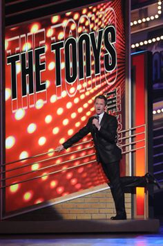 Host Neil Patrick Harris at the 2009 Tony Awards dress rehearsal.  Photo: Anita and Steve Shevett