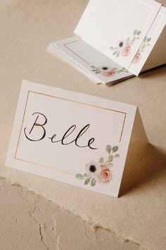 Nice but $140 for 100 cards. Augh! Peeking Florals Place Cards (10) from @BHLDN