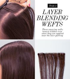 How To Hide Layers Using Layer Blending Weft Hair Extensions | Dirty Looks Hair Extensions, Hair Tutorials & Lotsa Gossip