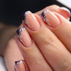 LATEST FRENCH NAIL ART DESIGNS IDEAS 2019 : The French nail styles that were sorted out a few days ago were more formal, and the overall design is tidy and elegant. Today's article collects more lively styles, suitable for travel, vacation, and wedding French Nails, French Manicure Nails, Manicures, Manicure Tips, Acrylic Nails, Gel Nails, Nail Polish, Beautiful Nail Art, Gorgeous Nails