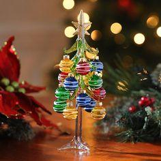 Colorful Glass Christmas Tree; $12.99