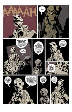 Hellboy in Hell returns today, read the entire first issue right here - Polygon Mike Mignola Art, Comic Styles, Comic Page, Fantasy Illustration, Dark Horse, Zine, Cool Art, Horror