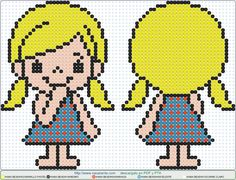 blonde EN HAMA BEADS 3D Perler Bead Patterns