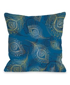 Look at this Blue Mykonos Amalia Peacock Throw Pillow on #zulily today!