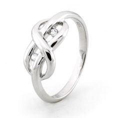 Sterling Silver Infinity Promise Knot Ring w/ Cubic Zirconia  $24.99