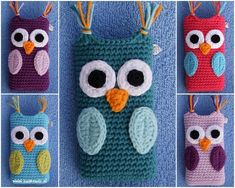 The cutest crochet patterns for amigurumi, baby blankets, clothes, shoes and more. I am adding new patterns and crochet tips every day. Crochet Phone Cover, Crochet Case, Crochet Owls, Crochet Amigurumi, Love Crochet, Beautiful Crochet, Crochet Crafts, Crochet Projects, Knit Crochet