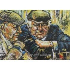 Irish Art - Show Day, Ardara - limited edition print by Stephen Bennett. From Stephen's painting of two farmers at the agricultural show in Ardara, County Donegal. Wild Atlantic Way, Irish Landscape, Irish Art, Donegal, Limited Edition Prints, Figure Painting, Business Women, Life Is Good, Art Gallery