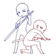 Draw the squad katana pose, couple pose, duo pose, chibi Chibi Body, Drawing Base, Manga Drawing, Chibi Drawing, Drawing Couple Poses, Couple Drawings, My Drawings, Couple Poses Reference, Chibi Base Couple