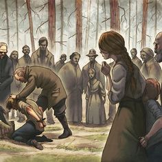 'The execution of Jonas Falk' by Filippo Vanzo Fantasy Inspiration, Character Inspiration, Character Art, Character Design, Injured Pose Reference, Art Reference Poses, Anime Fantasy, Fantasy Art, Art Prompts