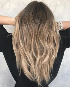 Long Sliced Haircut and Sombre - hair styles for short hair Long Layered Haircuts, Haircuts For Long Hair, Long Hair Cuts, Layered Hairstyles, Layers For Long Hair, Toddler Hairstyles, Men's Hairstyles, Sombre Blond, Balayage Hair