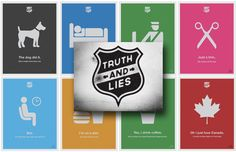 Truth and Lies: A Poster Series by Justin Barber
