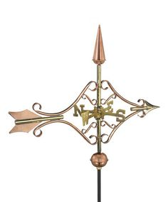 Loving this Polished Copper Victorian Arrow Weather Vane on #zulily! #zulilyfinds