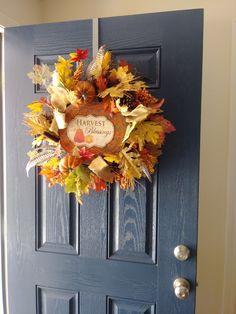 Autumn 2017, Harvest, Thankful, Wreaths, Fall, Home Decor, Autumn, Decoration Home, Room Decor