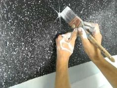 How to paint stars with twinkles - Mural Joe **the best stars yet! (and I'm becoming an armchair expert)