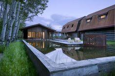 Moderná chata vo Wyomingu – Inšpirácie montované domy