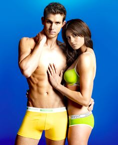 okay, not quite swimming, but two Olympic swimmers in a great advertisement pose...