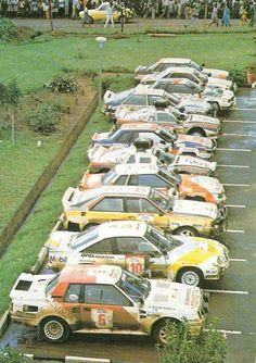 Group B Toyota celica/manta400 Opel/Audi coupe Quattro /240 Nissan also Stratos and 131abarth.....