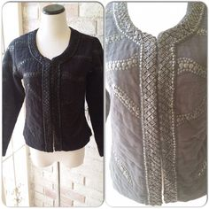 NWOT Malvin Women jacket #JA001 Beautifully quilted pattern with light sequin, hook closures. Size 6 and fits S/M. Never worn. This is great to pair with your favorite denim or dress pants, just so versatile. Made in Hamburg, Germany. JA001 Malvin Women Jackets & Coats