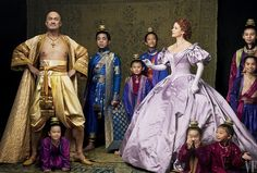 The stars of The King and I Revival Ken Watanabe as King Mongkut of Siam and Kelli O'Hara as Anna Leonowens, surrounded by young actors playing the king's children photo by Annie Leibovitz  New York City for Vanity Fair