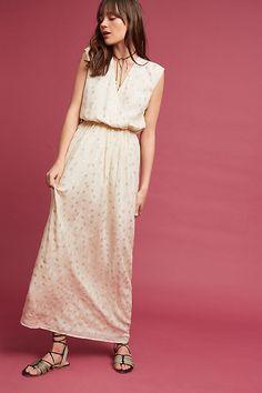 Slide View: 4: Jacquard Silk Maxi Dress