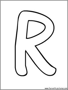 bubble letters r coloring page