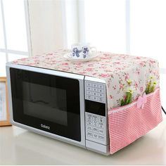 small flower Cotton Dust Cover Microwave Cover Microwave Oven Hood - Microwave Oven - Ideas of Microwave Oven - small flower Cotton Dust Cover Microwave Cover Microwave Oven Hood Microwave Cover With Storage Bag -in Microwave Oven Covers from Home Diy Home Crafts, Sewing Crafts, Diy Home Decor, Sewing Projects, Diy Para A Casa, Kitchen Decor, Kitchen Design, Oven Hood, Herd