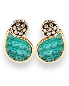 Petal earrings by Oscar de la Renta