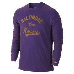 Nike Baltimore Ravens NFL  Long-Sleeve Washed Men's Shirt