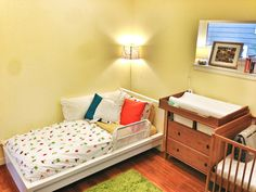 Our kids' room. Cute, but not special. Help us!  #roomandboard, #yolocolorhouse and #annies