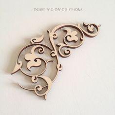 Amazing Laser cut wood ornamental detail 362 / Wood shapes / Best selling items / Popular / Wood laser cuts / Laser cut wood /Wood ornaments by DosheEcoDecorCharms on Etsy