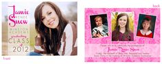 © Pink Ink Boutique  Senior Graduation Invitations