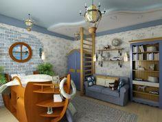 Kinderzimmer junge pirat  Tolle Marine Zimmer Interieurs für Jungen - der Pirat | Luke ...