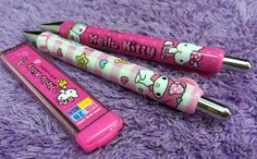 2x Hello Kitty Mechanical Pencils Cute My Melody & Refill Value Set Thicker Pen