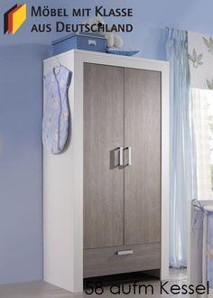 Kinderzimmer Schrank Kleiderschrank Weiß 2443. Buy now at https://www.moebel-wohnbar.de/kinderzimmer-schrank-kleiderschrank-weiss-2443.html