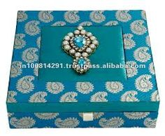 indian wedding gift box - blue
