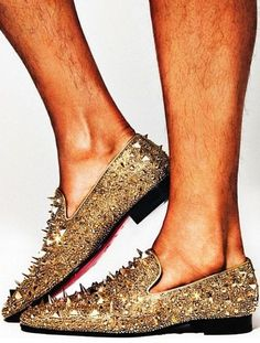 Men's Louboutins   OMC!! 1st pair of men's shoes to hit this wall! WTHeck is with the spikes!??