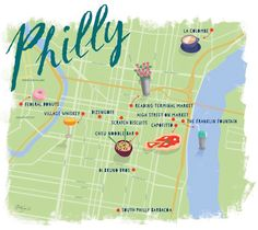 Philly Me Up: A Philadelphia Food Tour (Map by Mary Ann Smith)