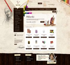 grunge and sketchy web design - #web #design
