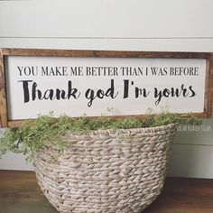 Thank God Im Yours // Russell Dickerson Lyrics // Wood Sign
