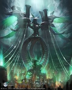 Omega Weapon: FFVII Artist: Final Fantasy Vii, Mobius Final Fantasy, Final Fantasy Artwork, Dark Fantasy Art, Final Fantasy Weapons, Fantasy Creatures, Mythical Creatures, Angel Demon, Ultimate Dragon
