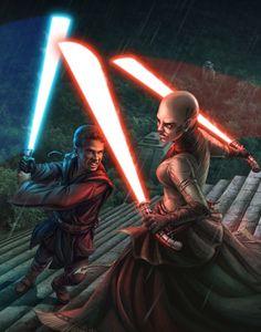 Anakin Skywalker vs Asajj Ventress