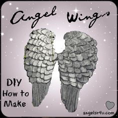 How to make angel wings out of cardboard and paper mache. #DIY #AngelWings