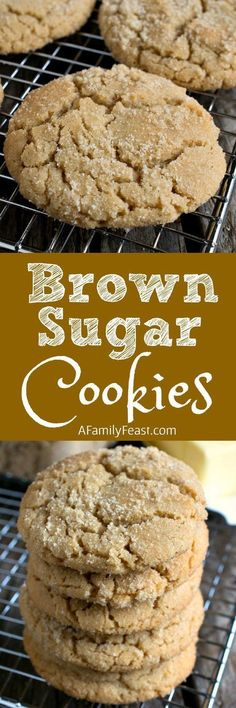 Brown Sugar Cookies are a clever twist on the traditional sugar cookie recipe thanks to some simple swaps that add great flavor! Also known as ELSA cookies Oreo Dessert, Cookie Desserts, Just Desserts, Delicious Desserts, Cookie Table, Holiday Desserts, Brown Sugar Cookies, Sugar Cookies Recipe, Yummy Cookies