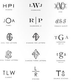 I Really Like this Monogram Chart. I don't think I've seen a couple of these before. And that's hard to do..
